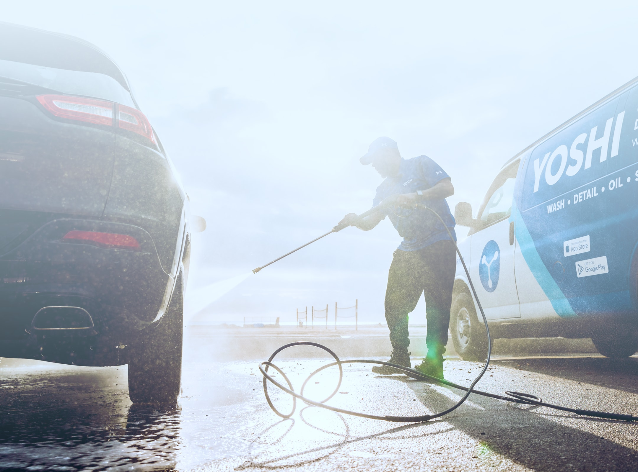 Yoshi gas, wash and service